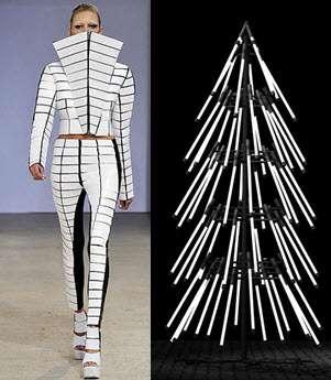 Cyberpunk Christmas Tree Fashion