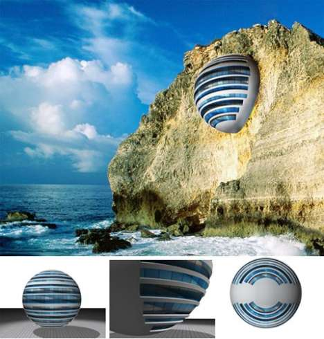 Cliff-Integrated Pod Resorts