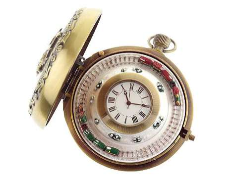 Holiday Pocket-Watches - 'Mr Christmas' Clocks With Mini-Trains and Sleighs