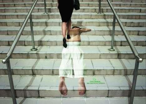 Foot Massage Stairvertising