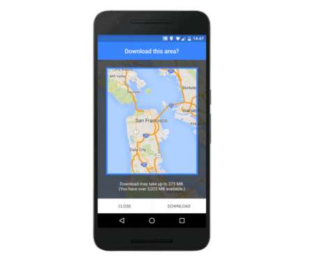 Offline GPS Apps - Google Maps Allows Users to Access Locations Without Using Data