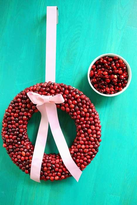 Festive Cranberry Wreathes