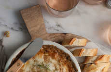 Autumnal Cheese Dips - This Extra Cheesy Brie Dip Contains Caramelized Fennel, Garlic and Leeks