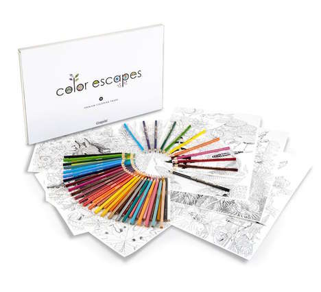 Adult Coloring Sets - Crayola's Color Escape Collection is Catered Specifically to Grown-Up Drawers