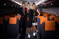 Luminous Flight Attendant Uniforms