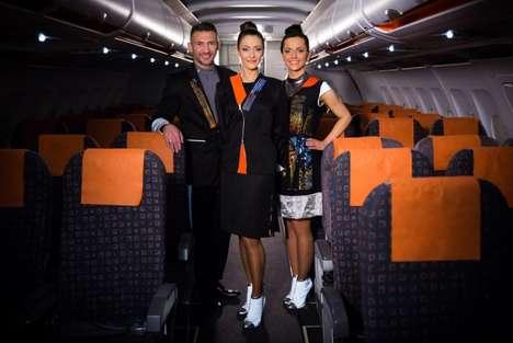 Luminous Flight Attendant Uniforms