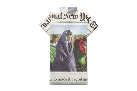 Newspaper-Embedded T-Shirts