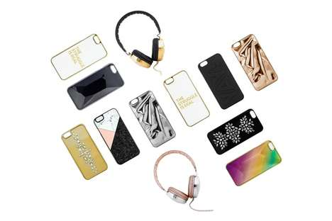 Crystal-Covered Tech Acessories