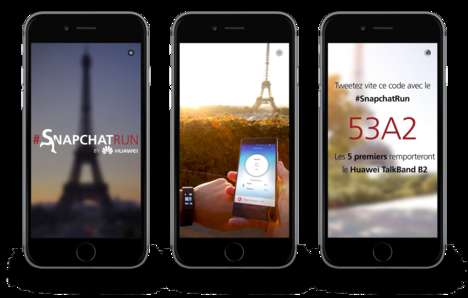 Ephemeral Race Campaigns - Huawei's Snapchat Marketing Campaign is Staged Like a Race in Paris