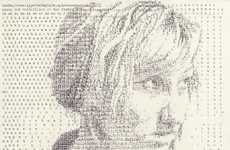 Intricate Typewriter Portraits