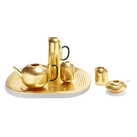 Spun Brass Tea Sets