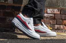 Lifestyle Basketball Sneakers - The FILA T-1 Mid and Cage Athletic Shoes Offer a Vintage Aesthetic