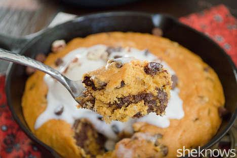 Oversized Pumpkin Skillet Cookies