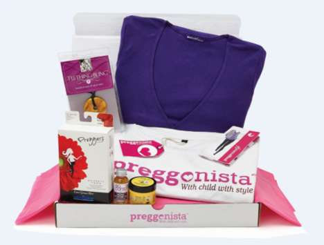 Stylish Maternity Subscriptions - Preggonista Boxes Supply Monthly Gifts for Pregnant Women