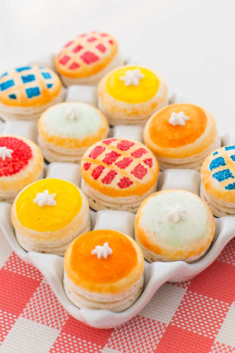 Homemade Pie Macarons - These Miniature French Pastries are Decorated to Look Like Tarts
