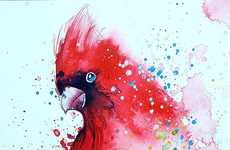 Splattered Watercolor Paintings