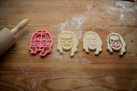 Self-Portrait Cookie Cutters - Copypastry Creates Biscuits Moulds Shaped as People's Faces