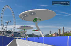 Floating Bike Paths - The Thames Deckway Conceptual Bike Path Will Float Above the Thames River