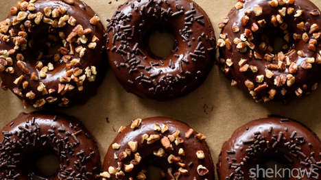 Caffeniated Breakfast Donuts - These Morning Desserts are Filled With Banana and Espresso Powder