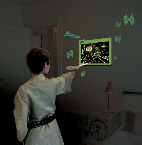 Glowing Sci-Fi Toys - The Star Wars Millennium Falcon UV Light Laser Creates Galactic Scenes