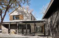 Prefabricated Stucco Homes - This Contemporary Home is Split into Two Distinct Wings