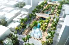 Rejuvenated Urban Lagoons - The T-Axis Project Will See An Old Shopping Mall Converted Into a Lagoon