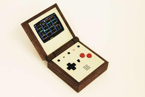 Wooden Handheld Video Games