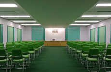 Cinematic Set-Inspired Spaces - North Korean Interiors Shows Spaces Similar to Wes Anderson Films