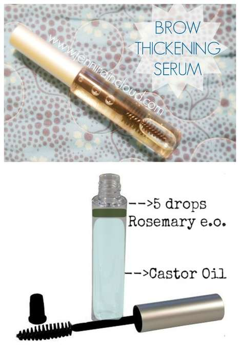 Homemade Brow Growth Serums - This Brow Thickening Gel is Made Using Essential Oils