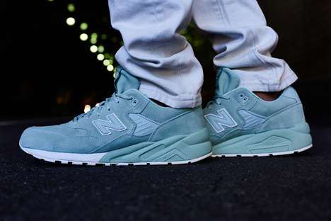 Minty Monochrome Sneakers - The New Balance 580 Elite Mint Features One Crisp, All-Over Color