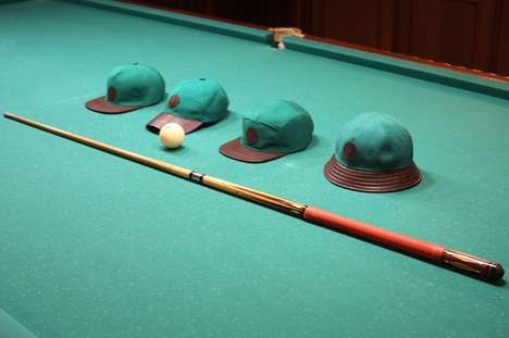 Billiard Tablecloth Hats - These Bucket & Baseball Vintage Caps are Made from Old Pool Tables