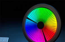 Technologically Vibrant Clocks - The Chromatic LED Color Spectrum Clock is Designed to Enchant
