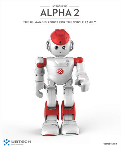 Family Companion Robots - The UBTECH Alpha 2 Humanoid Robot Will Perform Tasks and Offer Friendship