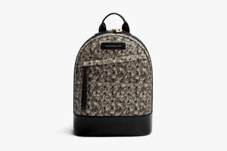 Retro Paisley-Patterned Luggage
