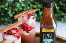 Sparkling Seasonal Fruit Teas - This Lemon Ginger Tea Pomegranate Sparkler is Festively Refreshing