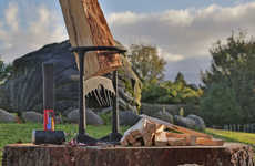Log-Splitting Accessories - The Kindling Cracker Wood Splitter Makes Quick Work of Small Logs