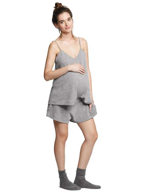 Luxe Maternity Sleepwear - This Cashmere Sleep Set by Hatch is Comfy and Transitional
