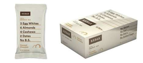 Recipe-Focused Protein Packaging - The Natural Snack RXBars Put the Ingredients at the Forefront