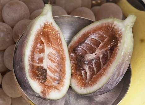 Skeletal Fruit Carvings