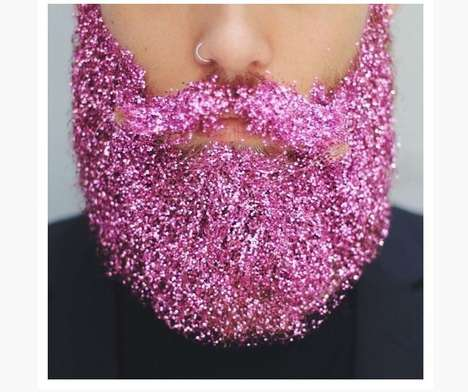 Glittering Beard Accounts - The Gay Beards Instagram Account is Behind the #Glitterbeards Fad