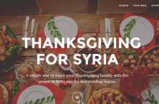 Holiday Meal-Sharing Apps - The 'Thanksgiving for Syria' App Benefits Syrian Refugees