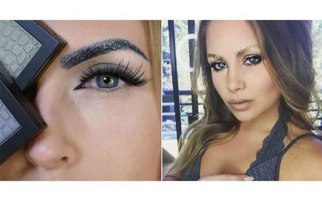 Glittery Eyebrow Coverage