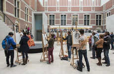 Artwork-Drawing Campaigns - The Rijksmuseum in Amsterdam Instituted a Temporary Camera Ban