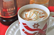 Boozy Chocolate Coffees - The Salted Caramel White Chocolate Kahlua Mocha Latte is for the Holidays