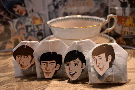 Rocker Tea Tags - These Celeb Tea Bag Accessories are Inspired by the Members of the Beatles