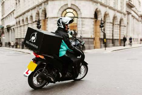 Quality Delivery Apps - Premium Food Delivery Service Deliveroo Makes On-Demand More High-End