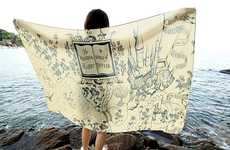 Oversized Map Scarves