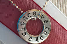 Referential Lyric Pendants - This One Direction 'We Took a Chonce' Necklace Honors Niall Horan