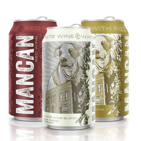 Manly Canned Wines - This Canned Wine Beverage is Designed for Masculine Men