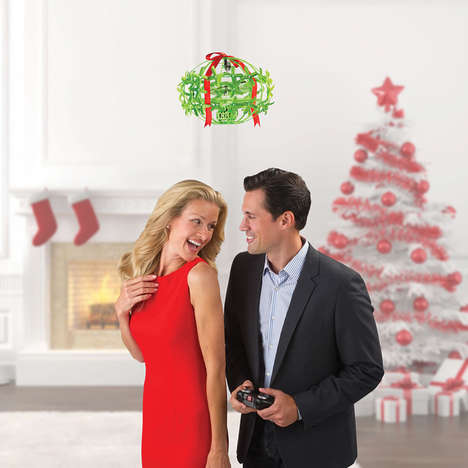 Festive Holiday Drones - This Mistletoe Flying Drone Gives a Tradition a Tech-Focused Update